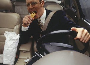 """Stop Eating and Start Driving!"" Insurance Experts Say"